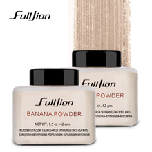 Fulljion Banana Loose Powder Oil-control Waterproof Whitening Concealer Powder Mineral Makeup Face Foundation Highlighter 1pcs