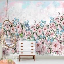 Custom wallpaper garden flowers living room TV background wall painting high-grade waterproof material