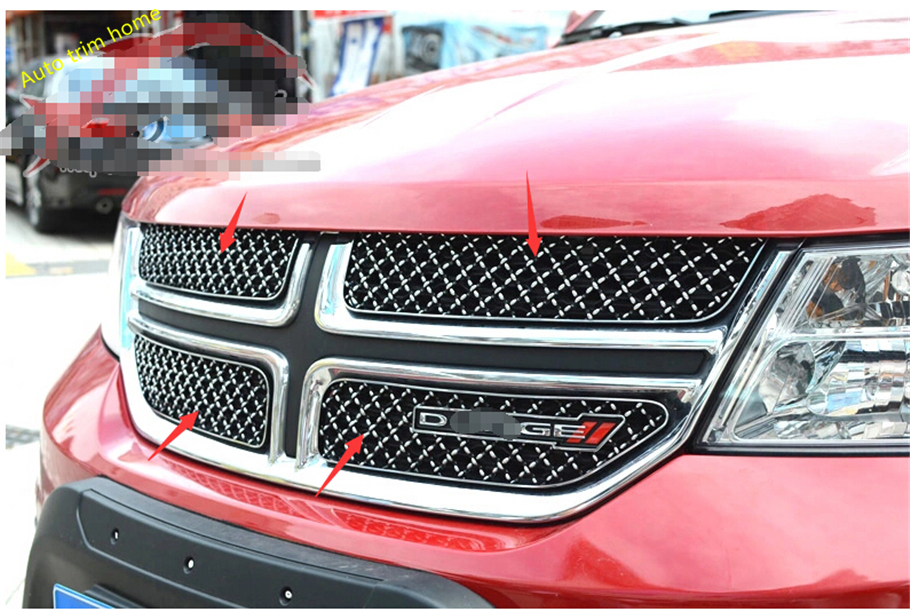 цена Honeycomb Style More Fashion ! 4 pcs For Dodge Journey 2013 2014 Front Grille Grill Trim