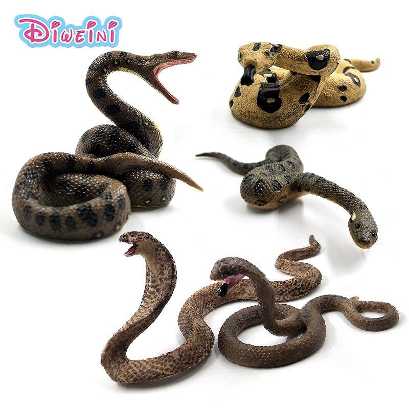 New Snake Cobra Python Green Anaconda Simulation plastic animals model figurine one piece