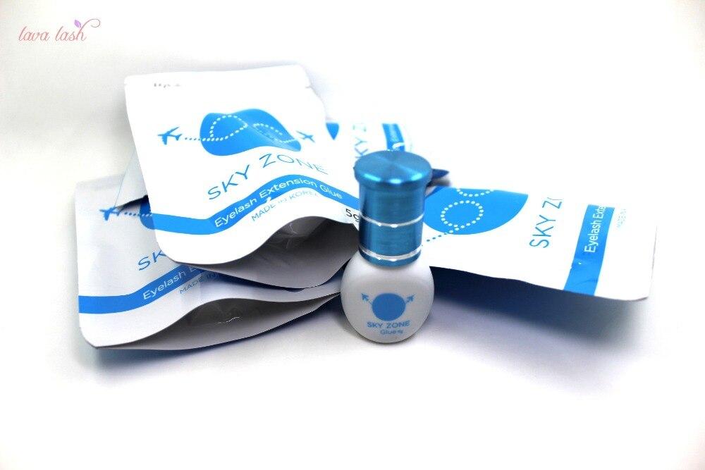 Free Shipping South Korea Strongest Sky Zone Glue Eyelash Extensions Glue 5ml 10 bottles lot 2018