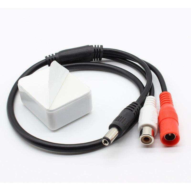 10Pcs Sensitive Mini Audio CCTV Microphone MIC DC 12V DVR Security Camer System