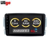 8 inch 4GB RAM/64GB ROM Android 8.1 Autoradio GPS for Mercedes Benz Viano Vito W203 W209 G Class W463 cassette player car stereo