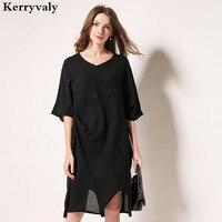 Summer Cotton And Linen T Shirt Loose Dress Robe Femme Ete 2018 Women Caramel Plus Size