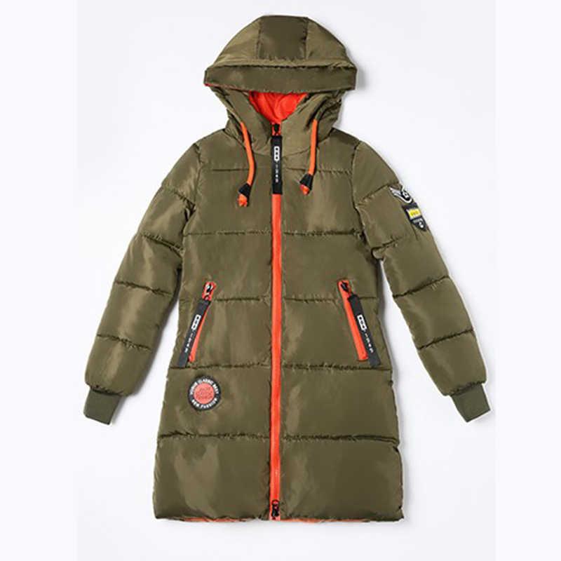Парка женская 2019 новая зимняя пуховая куртка женская куртка Длинная с капюшоном верхняя одежда женская парка Толстая хлопковая стеганая Женская Базовая куртка Feme