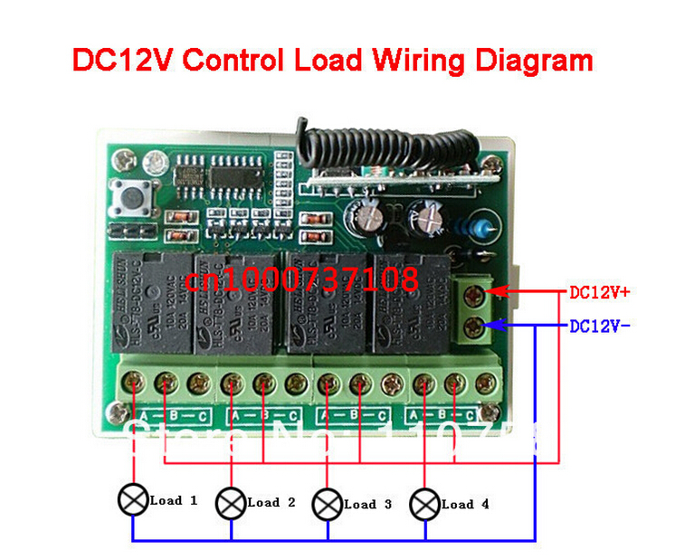 com buy dcv channels rf wireless toggle switch v com buy dc12v 4channels rf wireless toggle switch 12v power window switch transmitter learning code swirtches rf wall switch from
