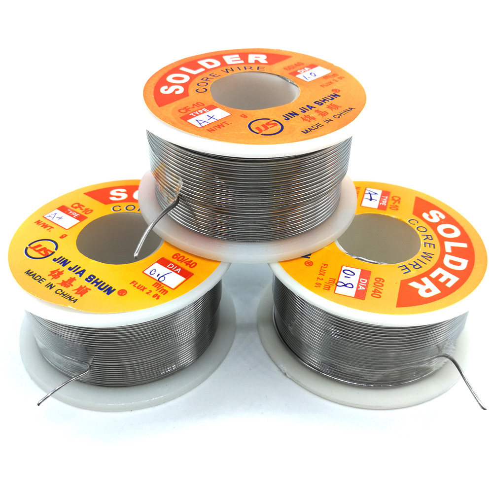 1pc New Welding Iron Solder Core Wire Reel 97g98g100g 3 5oz FLUX 2 0percent 0 6 0 8 1 0mm Tin Lead Line Rosin Flux Soldering Wholesale
