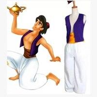 S XXL Adult Aladdin Lamp Prince Aladdin Costume Halloween Anime Cosplay Fancy Dress Adam prince Costumes
