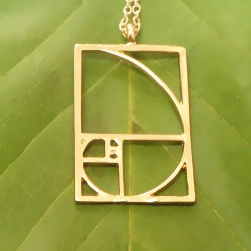 Envío de la gota Colgante de proporción dorada de Fibonacci Negro / - Bisutería - foto 3