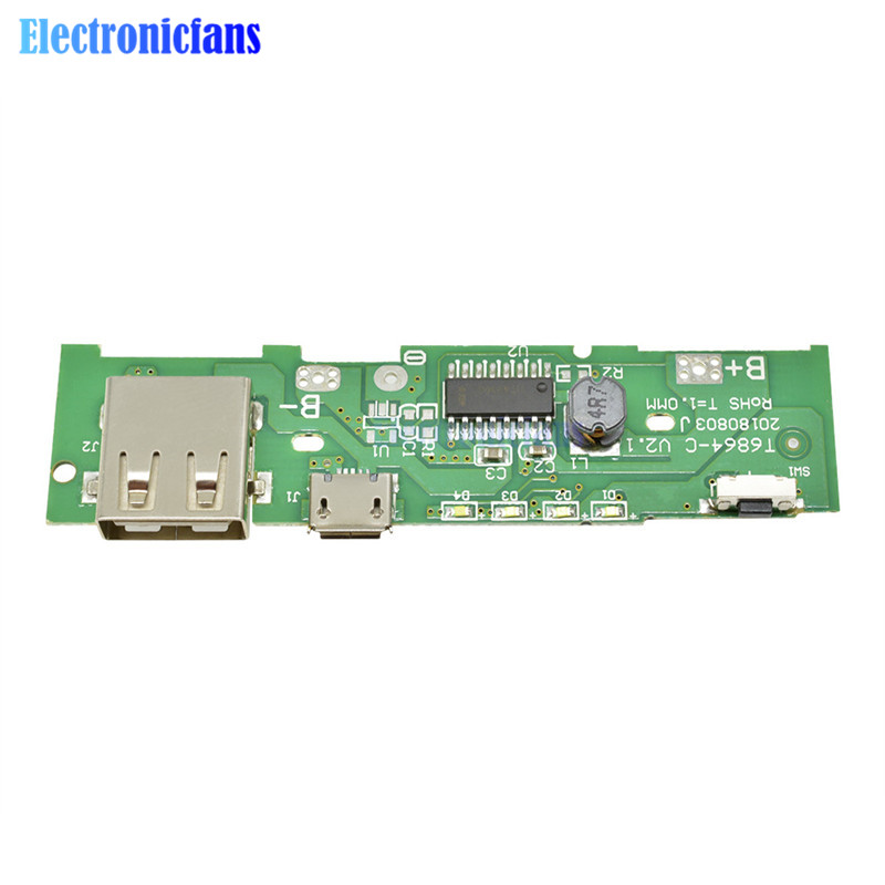Step Up Boost Module 5V 1A Power Bank Charger Board Charging Circuit PCB Board Power Supply For Mobile Phone 18650 Battery DIY