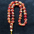 Top Selling Red Color Islamic 33 Beads 10mm*11mm  Resin Amber Prayer Beads Cylinda Shape Tasbih Allah Prayer Rosary