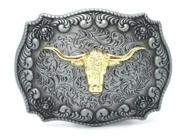 №New Western Cowboy taureau tête Floral fleur boucle de ceinture - a366 91d70114dc8