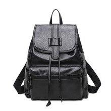 Классический Дизайн из искусственной кожи Для женщин Рюкзаки черные летние Винтаж рюкзак Школьные сумки для Обувь для девочек качество Водонепроницаемый Мода Tote