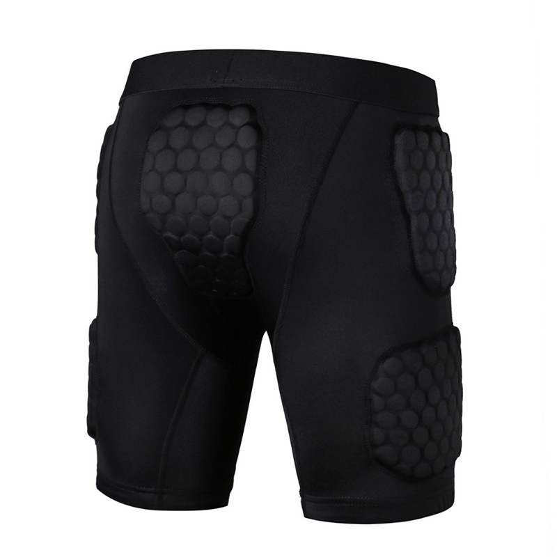 2018 Safety Honeycomb Tight Fitness Anti Collision Shorts Basketball Sports Anti Compression Shorts Sportswear