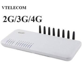 חדש לגמרי 4G LTE VOIP gateway עם 8 יציאות GSM/WCDMA LTE VOIP SIP Gateway  2G/3 g/4G 8 sims IP gateway
