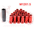 KYLIN STORE - SR48 Auto Steel Acorn Rim Extended Open End Wheel Racing Lug Nuts With One Key M12X1.5 20pcs