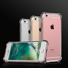 Airbag Dropproof Soft Case For Iphone 5s Xs Max Xr 7 8P  5 6s X 6 7Plus Anti-Knock Clear Transparent Silicone Cover 360 Degree