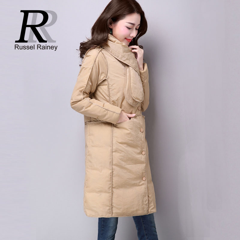 RR Female Winter Long Coats New Solid Warm Casual Jackets 2016 Cotton Wadded Parka Coat Lady Thin Loose Winter Jackets Plus Size
