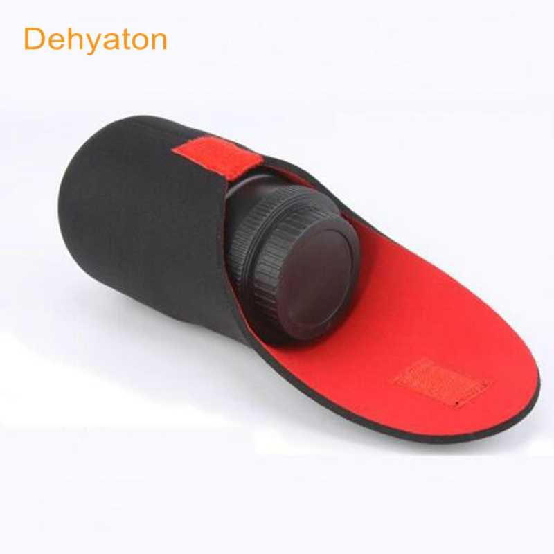 Dehyaton Neopreen waterdichte Soft Camera Lens Pouch bag Case Maat S Ml XL Neopreen Lens Pouch voor Nikon Canon Sony DSLR camera