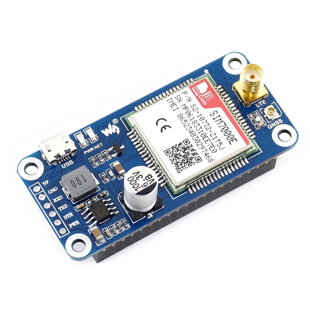 Image 5 - Waveshare NB IoT/eMTC/EDGE/GPRS/GNSS HAT for RPi Zero/Zero W/Zero WH/2B/3B/3B+, Based on SIM7000E,Supports TCP,UDP,PPP,HTTP,Mail-in Demo Board from Computer & Office
