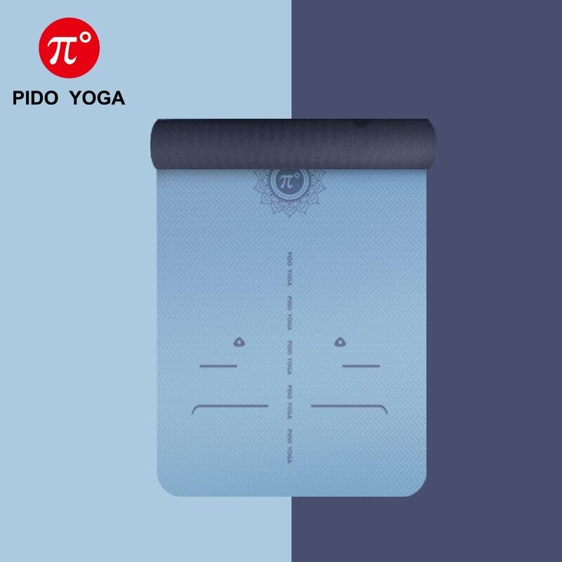 Beminnelijk Pido Yoga Tpe Yoga Mat 183*66*0.6 Cm Lijn Positie Brede Non-slip Mat Gym Mat Beginner Pilates Mat Beroemd Om Hoogwaardige Grondstoffen, Een Breed Scala Aan Specificaties En Formaten, En Een Grote Verscheidenheid Aan Ontwerpen En Kleuren