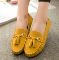 Женщины Бездельник Обувь 2016 Мода Весна-Лето Женщины Лодка Обуви Замши Квартиры Женщина Причинная Медсестра Рабочая Обувь для Вождения