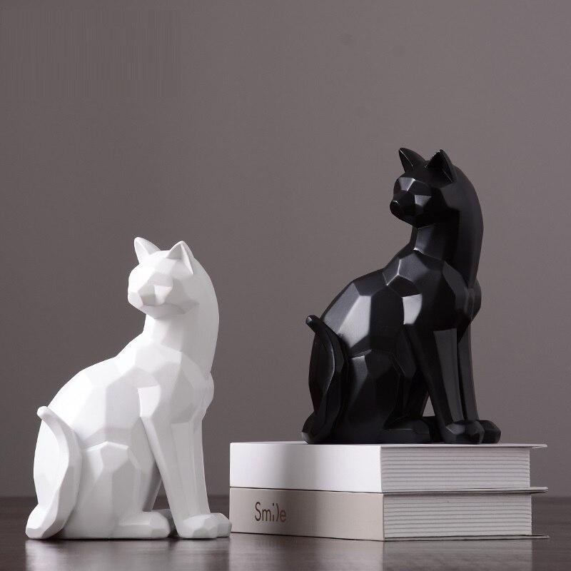 Black Geometric Origami Bird Statue Bird Sculpture Indoor Desktop Decoration