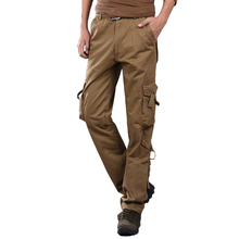 2017 New Mens Military Long Pants High Quality Combat Overall Cargo Straight Leg Casual Pants Trousers Casual More Pockets Army