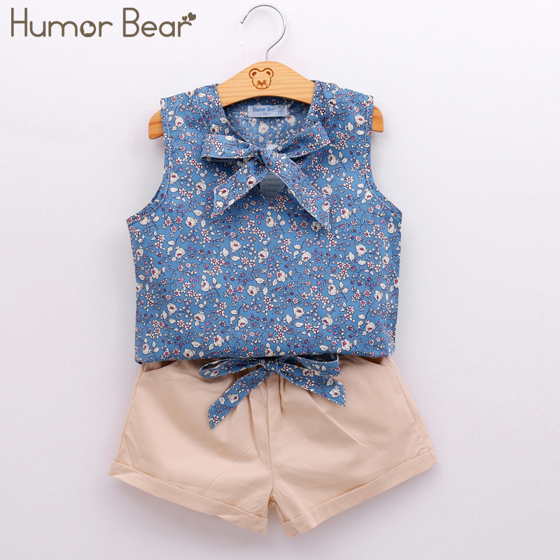 Humor Bear Summer Style Kids Clothes Fashion Flower T shirt + Pant Baby Suits Children Clothing Set Baby Girls Clothes menoea 2017 brand new summer fashion style baby boy clothing set short sleeve t shirt pant suit kids clothes children suits 3 7y