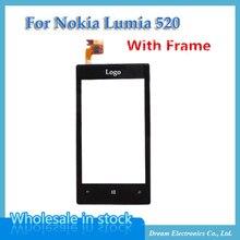 Рамкой lumia перевозка nokia oem digitizer свободная передняя груза жк-дисплей панель