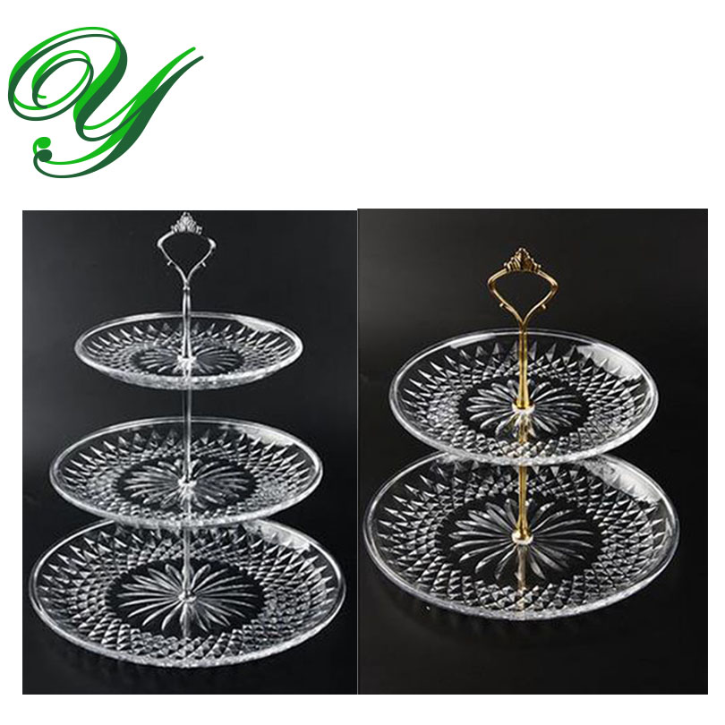 3 Tier Fruit plates cakes stand plastic platter tower buffet serve ...