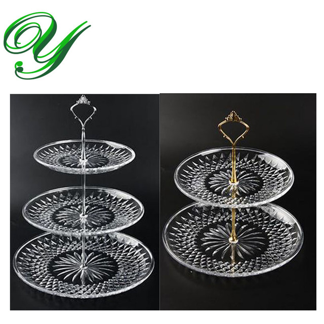 3 Tier Fruit plates cakes stand plastic platter tower buffet serve tray holder wedding party table  sc 1 st  AliExpress.com : buffet plate holder stand - pezcame.com