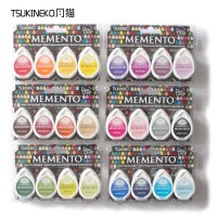 Tsukineko BRILLIANCE MD 4pcs Water Drop Series Of Rubber Stamp Pad For Paper Craft Free Shipping