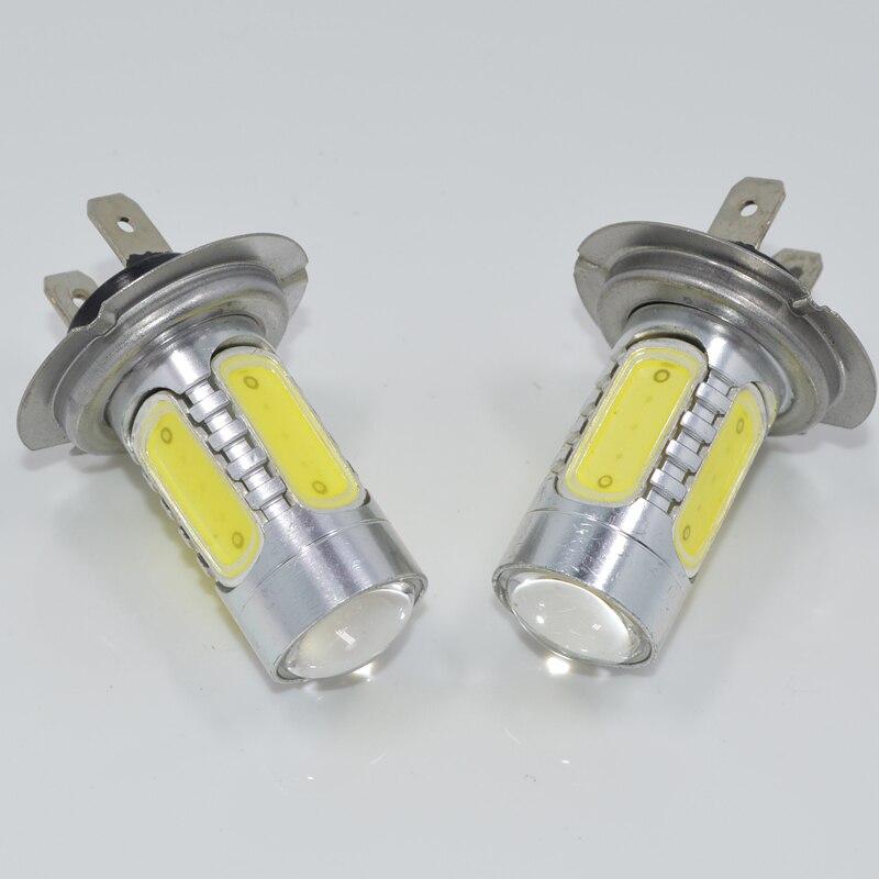 Prix pour 4 pcs H7 7.5 W COB Projecteur LED Ampoule Xenon Blanc Car Auto brouillard Conduite DRL Phare Lampe H7 LED Feux pour Auto Machines