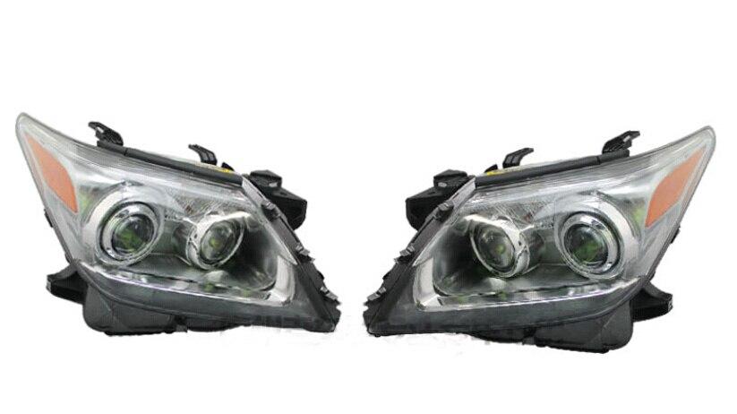 1pcs LX570 Headlight,car Accessories,2011 2012 2014 Year Bumper Light For LX570 LED Front Lamp Headlights Chrome Housing LX 570