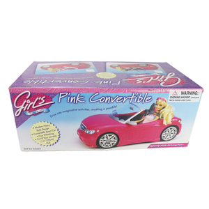 Image 5 - 1/6 Pop Auto 2 Zetels Roze Convertible Voor Barbie Pop Accessoires Klassieke Speelgoed Cadeau Voor Meisjes Kids Niet Batterij Aangedreven