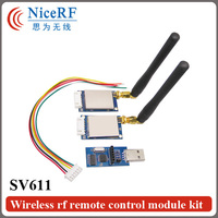 433MHz TTL Interface Type RF Module SV611 SW433 WT100 Elbow Rod Antenna TTL USB Bridge Board