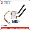 2 unids 433 MHz Interfaz TTL GFSK Transceptor RF Módulo SV611 Wireless + 2 unids Codo Antena de Varilla + 2 unids TTL Tablero Puente USB