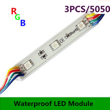 Free shipping LED RGB color changing module for channel letter or LED sign 3 LED RGB SMD 5050 waterproof 1000pcs/lot цена