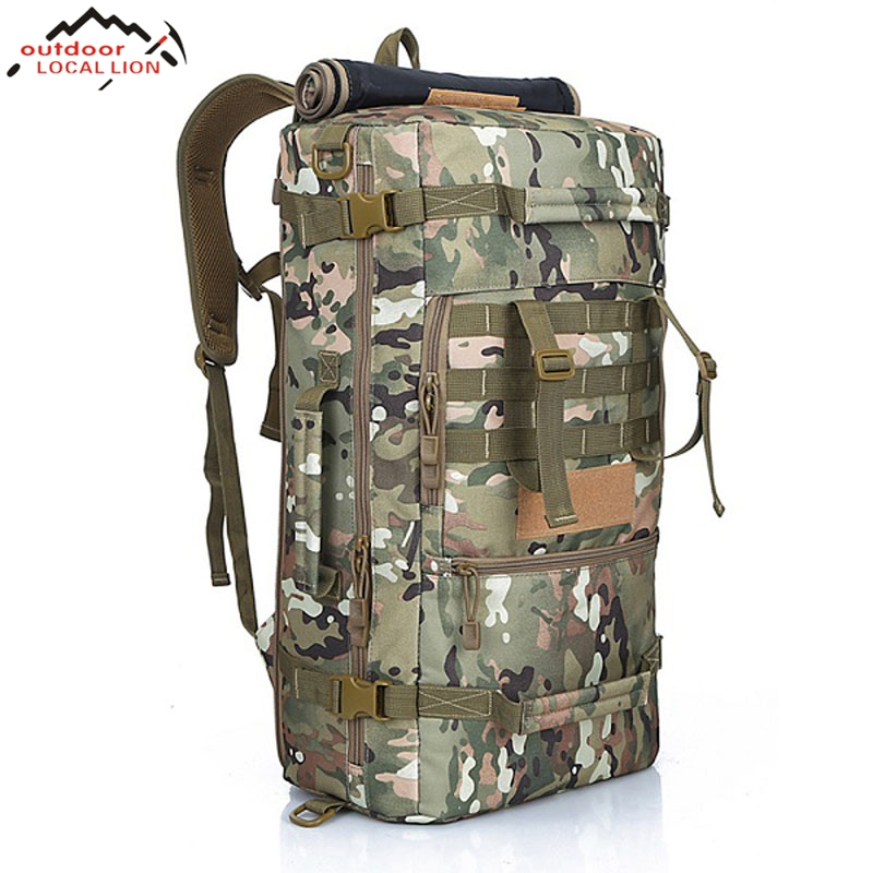 50L New Military Tactical Backpack Camping Bags Mountaineering Bag Men's Hiking Travel Backpack Fishing Bag Outdoor Rucksack 70l large capacity bag men military tactical backpack outdoor sport camping bags men s hiking rucksack travel backpack