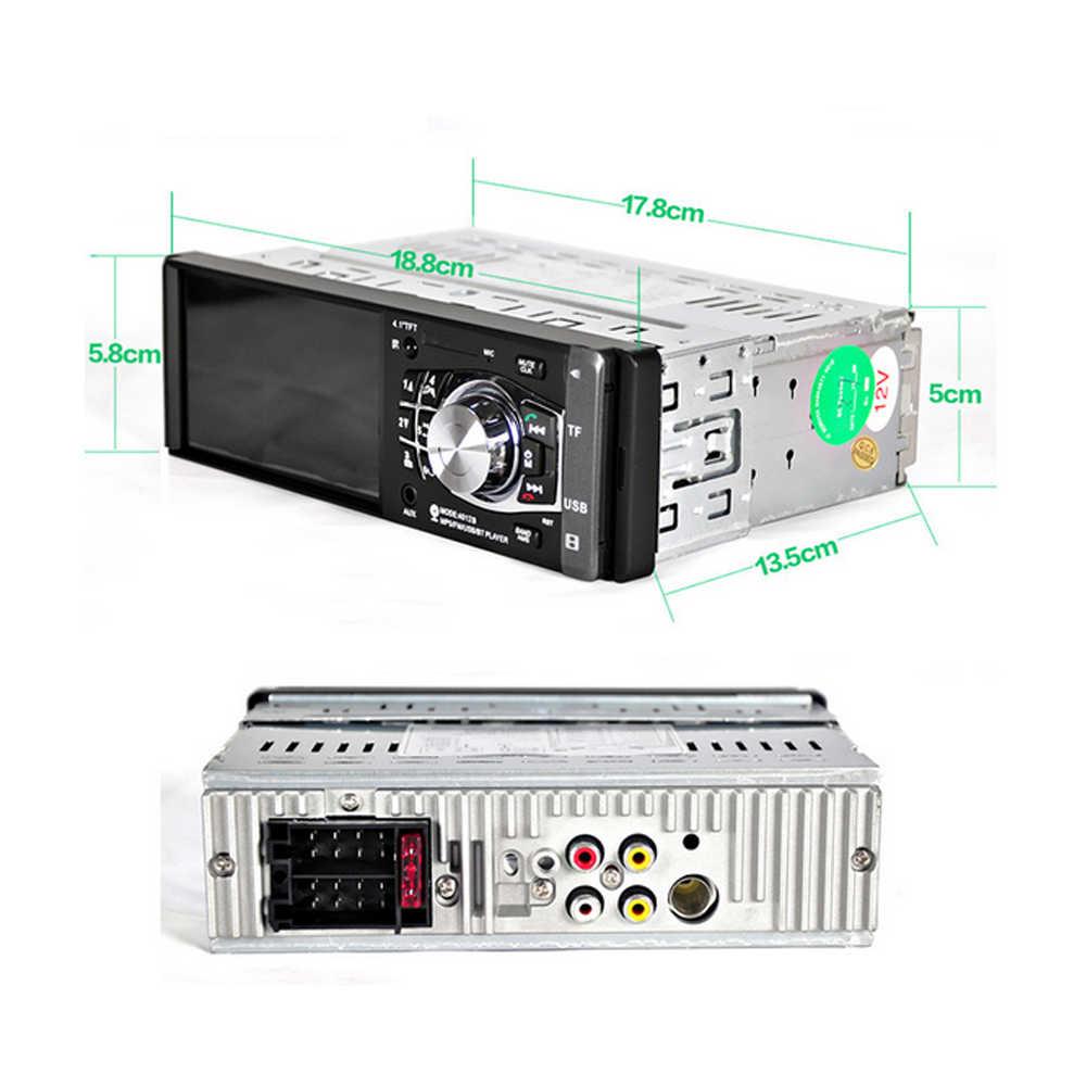 Podofo 4012B 1 Din автомагнитола Авто Bluetooth аудио стерео FM Поддержка камеры заднего вида USB рулевое колесо дистанционное управление