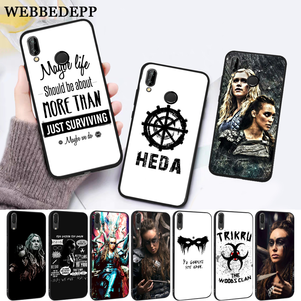 WEBBEDEPP Heda Lexa The 100 TV Show Coque Silicone Case for Huawei P8 Lite 2015 2017 P9 2016 Mimi P10 P20 Pro P Smart 2019 P30 image