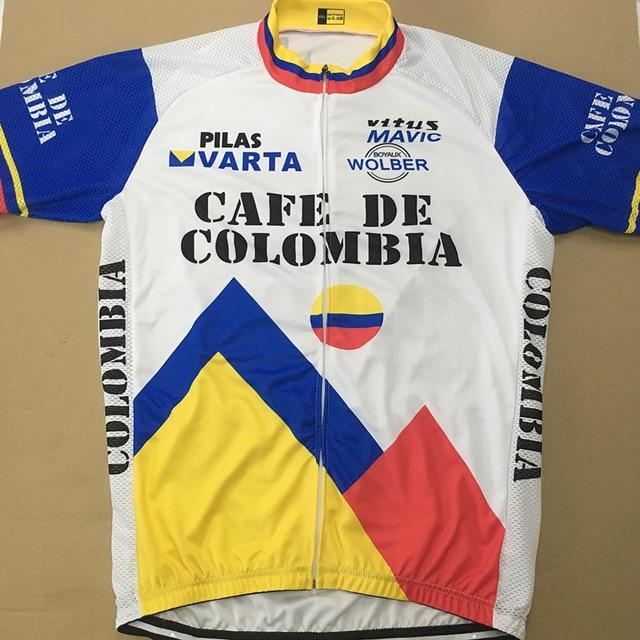 ec6ea5d2c7f SPEED PEAK CAFE DE COLOMBIA Cycling Jersey Top Men Short Sleeve Summer  Quick Dry Classic Racing MTB Bike Clothing Jersey