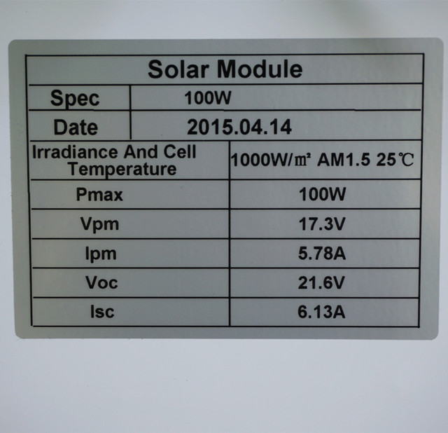 100W 12V Monocrystalline Solar Panel  for 12V Battery RV Boat , Car, Home Solar Power & Free Shipping. Within Your Country Item Will Be Delivered Between 2 To 5 Days Excluding Holidays