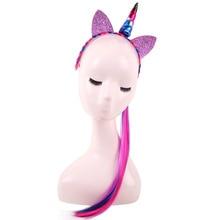 Girl's Colorful Ponytail Unicorn Headband