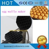 Newest egg waffle pan electric egg waffle maker small egg shaped cake processing machine