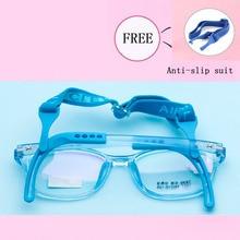 Детская оптическая Спортивная Нескользящая повязка очки рамки для мальчиков и девочек близорукость очки детские очки студенческие квадратные очки G1077-25
