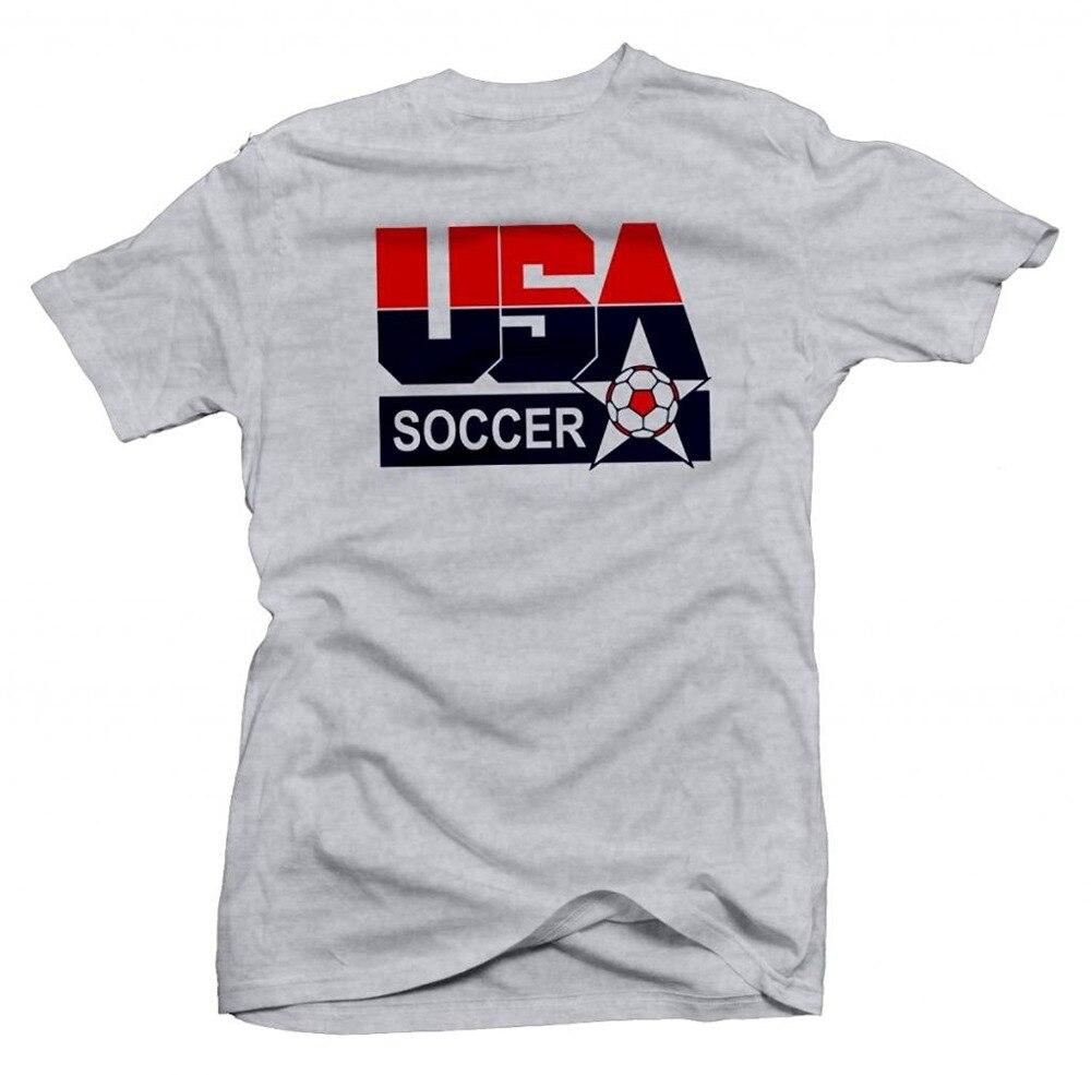 Nouveau été offre spéciale T-shirt USA rétro chaussettes footballeur Logo T-shirt drôle