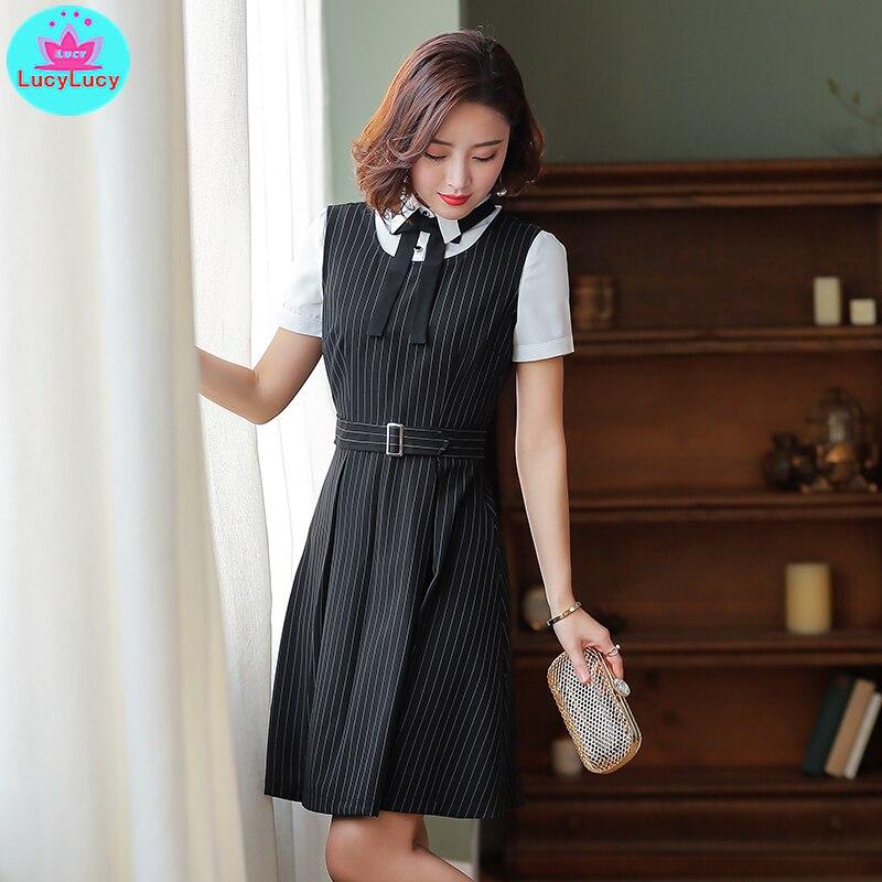 дешево!  2019 лето новый корейский стиль женской моды профессиональный полосатый лук сумка бедра платье длино