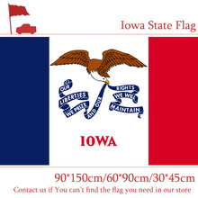 Free shipping Iowa State Flag 90*150cm 60*90cm 3x5ft Printed Banners 30*45cm Car Flag For Campaign / Vote / Event free shipping little canada city flag 3x5ft banners with brass metal holes 30 45cm car flag 90 150cm 60 90cm flag for vote event